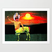 Power for the freaks !!! Art Print