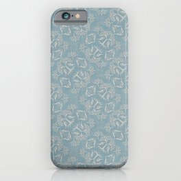 Hare Damask Fabric Pattern iPhone Case