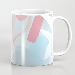 Muted Leaf Print in Pastel Pink Coffee Mug