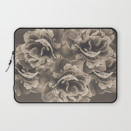 Sepia Peony Flower Bouquet #1 #floral #decor #art #society6 Laptop Sleeve