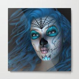 Sugar Doll Blue Metal Print