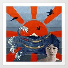 Sunrise over Mount Fuji  Art Print