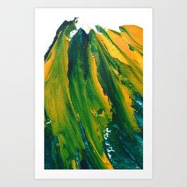 Wings Collection orange/green Art Print