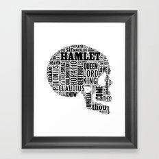 Shakespeare's Hamlet Skull Framed Art Print