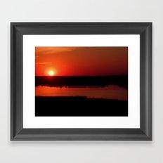 The Setting Sun Framed Art Print
