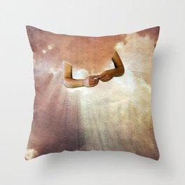 hesitation Throw Pillow