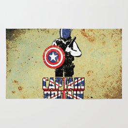 Captain Britain Rug