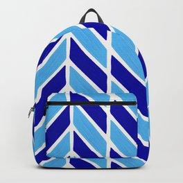 Herringbone Acrylic – Blues Backpack