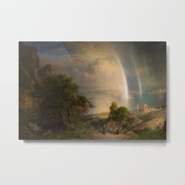 Aegean Sea Landscape by Frederic Edwin Church Metal Print