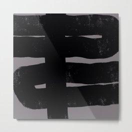Nikko Abstract Series - Dark Line 4 Metal Print
