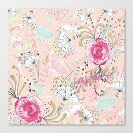 Rose Bouquet ~ Pink Haze Canvas Print
