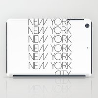 new york city iPad Cases featuring New York New York City by Stylish in Sequins