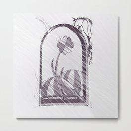 through window Metal Print