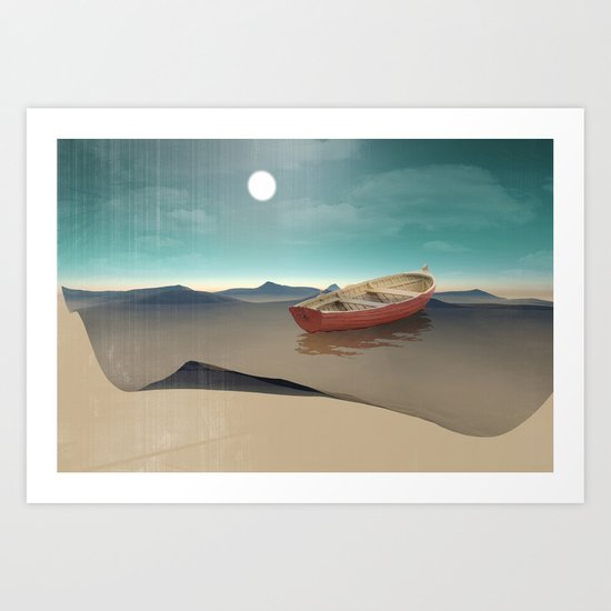 at sea in a void Art Print