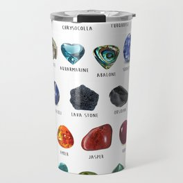 crystals gemstones identification Travel Mug