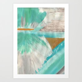 Turquoise Abstract I Art Print