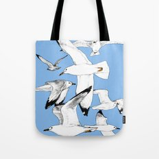 Flying around Tote Bag