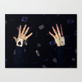 aces in sleeve Canvas Print