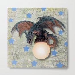 Dragon with Stars Metal Print