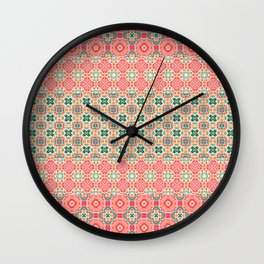 kaleidoscopic stripe Wall Clock