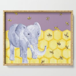 Elephant & Bees Serving Tray