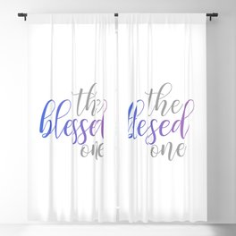 The blessed one- Mindful quote for yoga lovers Blackout Curtain