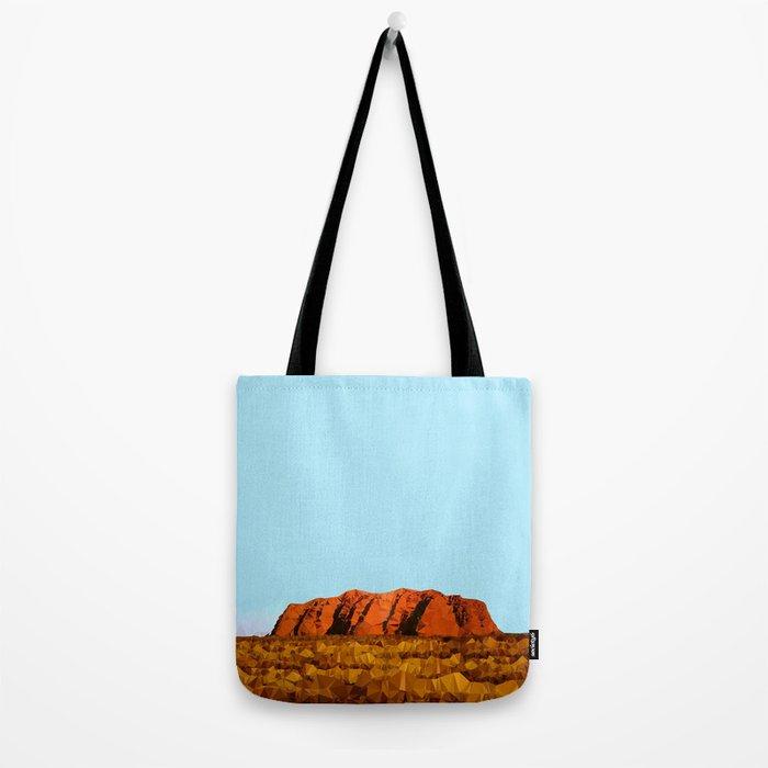 uluru polygon Tote Bag