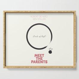 Meet the Parents, minimalist movie poster, Robert De Niro, Ben Stiller, american comedy, film Serving Tray