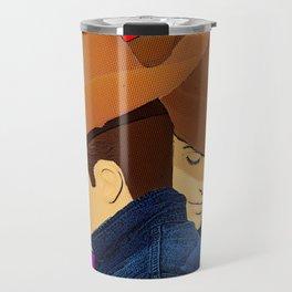 Cowboy Love Gay Art Travel Mug
