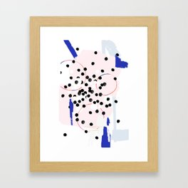 pastel confetti Framed Art Print