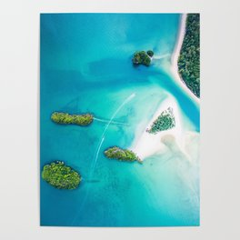 Turquoise Tropical Ocean Poster