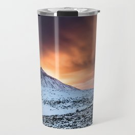 Golden hour sunset in Teide National Pak Travel Mug