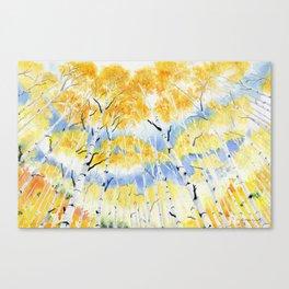 Under the Birch Forest Canvas Print