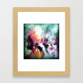 WATERCOLOUR PRINT IN BLUES AND LILACES Framed Art Print