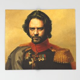 Russell Crowe - replaceface Throw Blanket