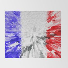 Flag of France Throw Blanket
