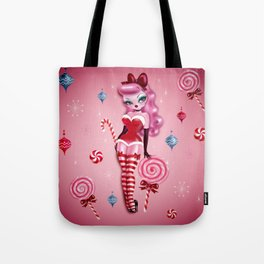 Christmas Sugar Doll Tote Bag