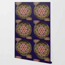 K107 Abstract Medallion Wallpaper
