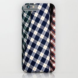 Abstract Of Lumberjack Checkered Textile Of A Variety Of Colors iPhone Case