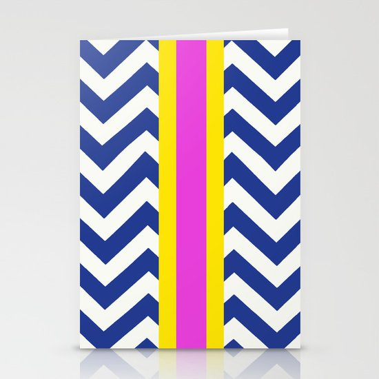 Raja Summer Chevron  Stationery Cards