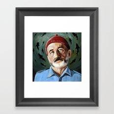 Steve Zissou - Patron Saint of Killing Sharks - Wes Anderson, Bill Murray Framed Art Print