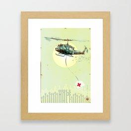 "Glue Network Print Series ""Emergency Relief"" Framed Art Print"