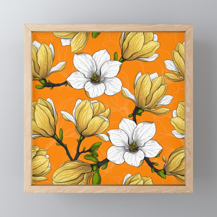Magnolia garden in yellow    Framed Mini Art Print