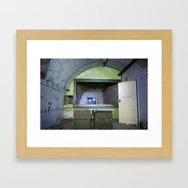 Fallout shelter Framed Art Print