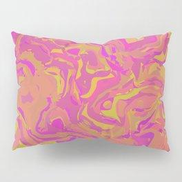 Pink, Orange, and Yellow Swirl Pillow Sham