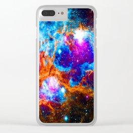 Cosmic Winter Wonderland Clear iPhone Case