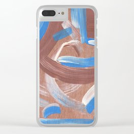 Falling Water Abstract Clear iPhone Case