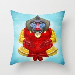 Iron Mandrill Throw Pillow