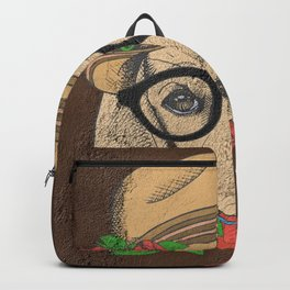 Cute Hipster Pup Backpack