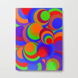 Spirals - Disco Metal Print